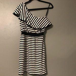 White House Black Market- one shoulder dress.